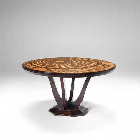 """Pantheon"" round table with extensions, diameter 180 cm"