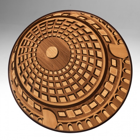 """Pantheon"" round table with extensions, diameter 150 cm"
