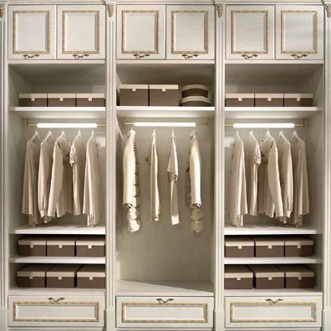 Tailored made wooden classic style Walk-in wardrobe