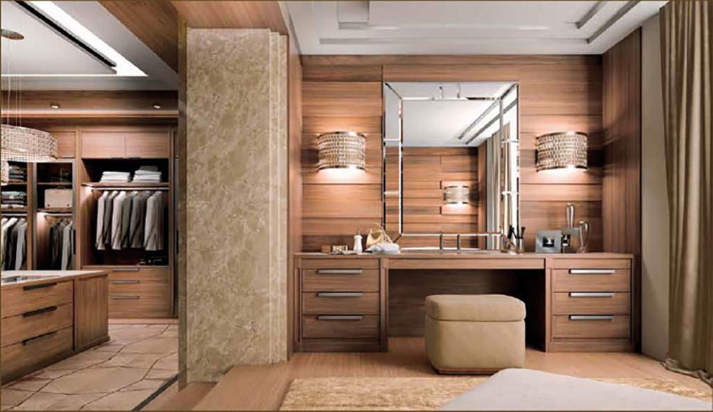 Cabina armadio su misura in legno stile moderno - Arte Brotto