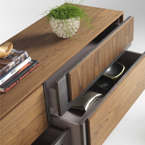 CLIK sideboard with drawers and inlay