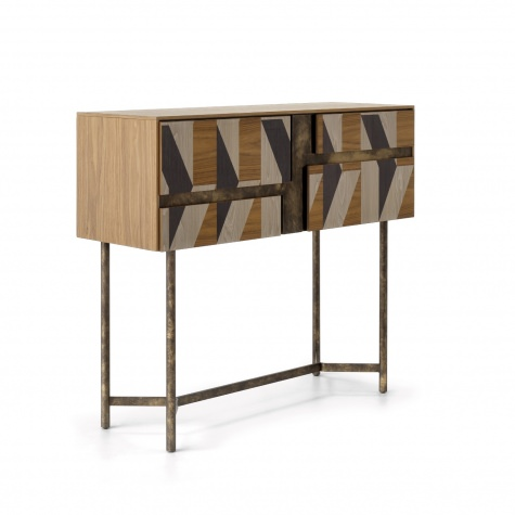 CLIK desk, drinks cabinet, dressing table with inlay