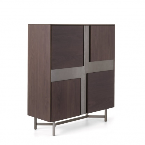 CLIK tall storage cabinet with inlay