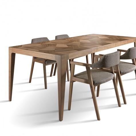 Frammenti rectangular table in solid walnut
