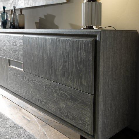 Sideboard in oak with secret compartment