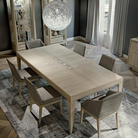 Tavolo rettangolare fisso o allungabile in rovere, in tre misure differenti
