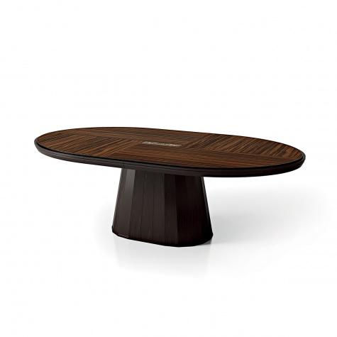Tavolo ovale fisso in rovere