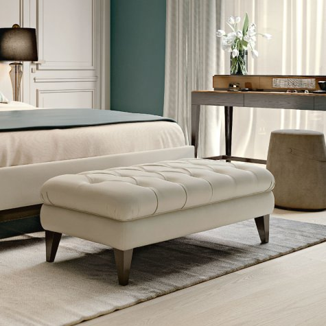 Upholstered bench for bedroom