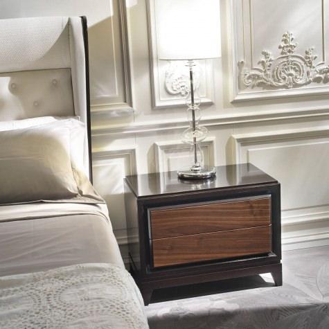 Bed side table in walnut or oak