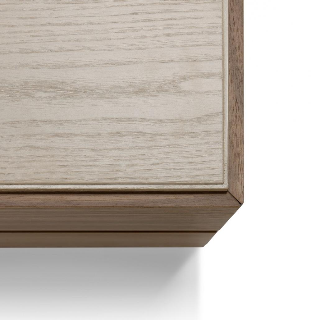 Mobili Con Cassetti Nascosti comodino in legno di noce o rovere con 2 cassetti - arte brotto