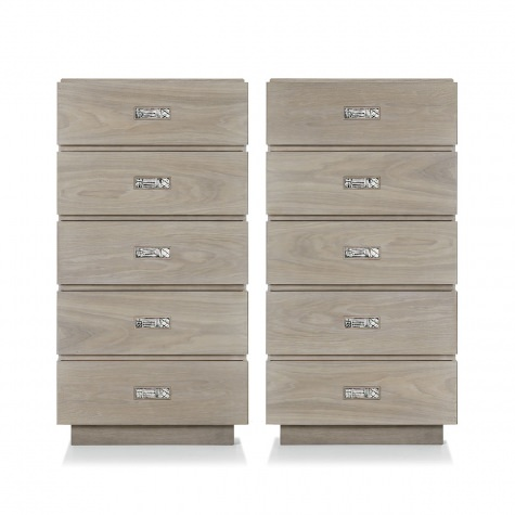 Tall chest of drawers in walnut or oak