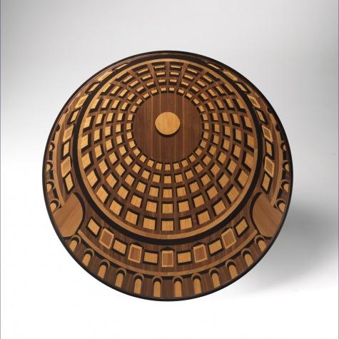 Tavolo rotondo Pantheon, gamba a T, fisso o con allunghe diametro 150 e 180 cm