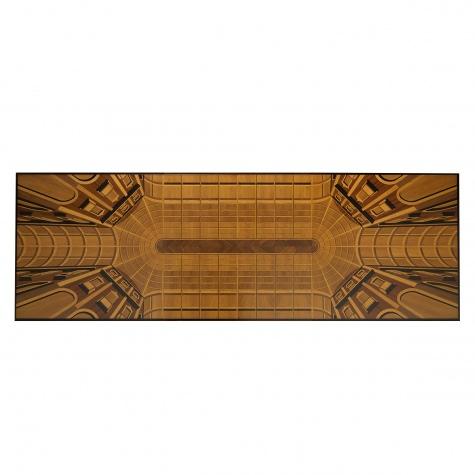 Tavolo rettangolare Galleria Vittorio Emanuele, fisso o con allunghe