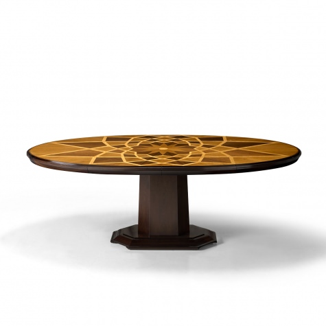 """Piazza del Campidoglio"" oval table with T-shaped leg"