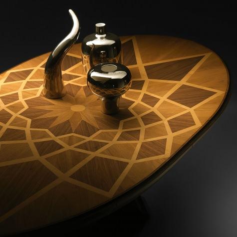 Tavolo ovale Piazza del Campidoglio con gamba a V