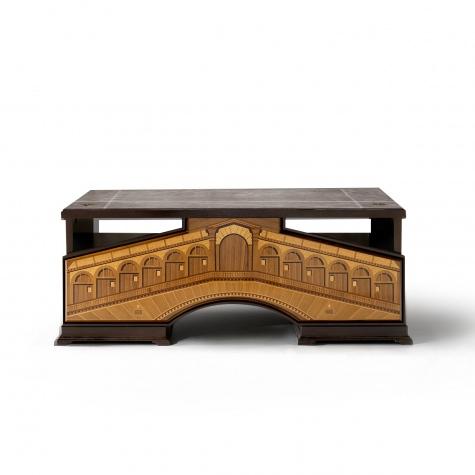 Scrivania in legno intarsiato Rialto