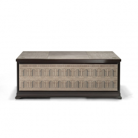Scrivania in legno intarsiato Basilica Palladiana, disponibile con alzatina