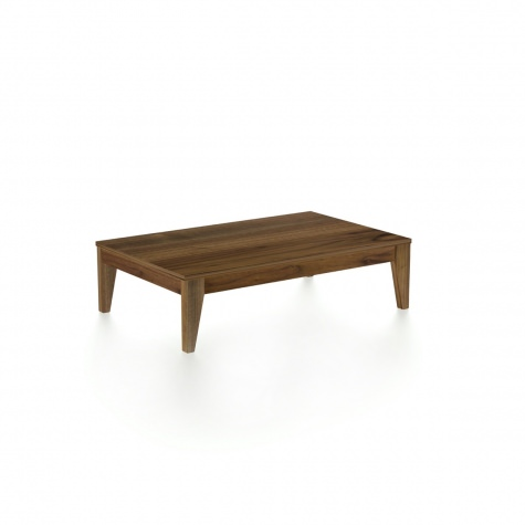 Coffee table in solid walnut