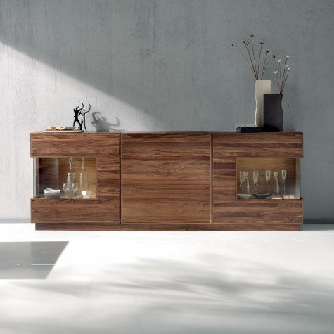 Sideboard in sold walnut with 2 doors
