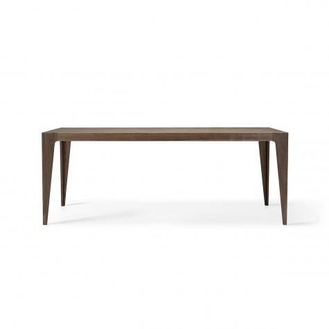 Нераздвижной или раздвижной прямоугольный стол из цельного ореха