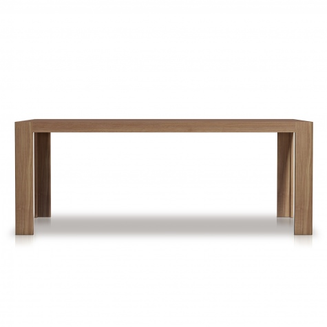 Rectangular table in solid walnut.Fixed or with extensions
