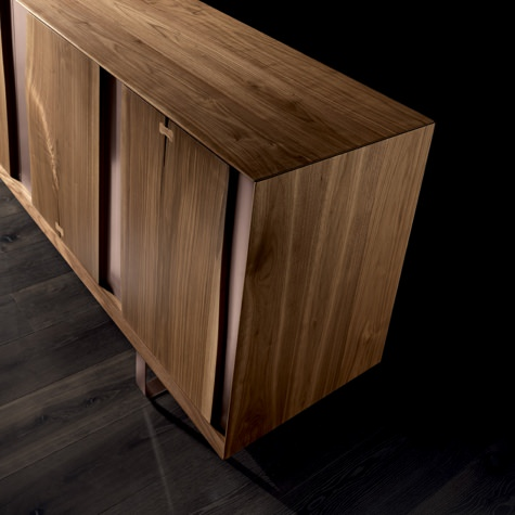 Sideboard in solid walnut or oak with Minimal base