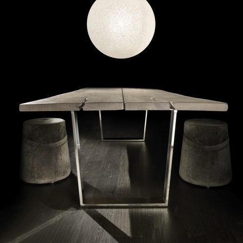 Tavolo Vero con gambe in metallo Minimal
